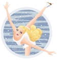 A Beautiful Woman Figure Skater vector image