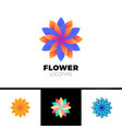 abstract flower resort spa logo icon isolated vector image