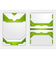 Abstract green geometric tech flyer design vector image vector image