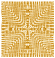 Abstract seamless geometric pattern gold texture vector image vector image