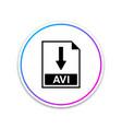 avi file document icon download button icon