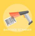 barcode scanner flat design vector image vector image