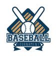 baseball logo sport vector image vector image