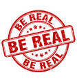 be real red grunge stamp vector image vector image
