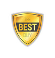 best buy badge sticker golden shopping sale icon vector image