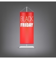 Black friday Vertical red flag at the pillar vector image