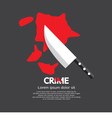Bloody Knife Crime Concept vector image vector image