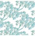 Blue orchid pattern vector image vector image