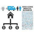 Building Payments Icon with 1000 Medical Business vector image vector image