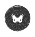 butterfly grunge hipster emblem vector image vector image