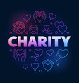 charity and donation colorful circular line vector image vector image