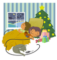 children sleeping vector image vector image