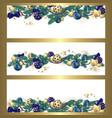 christmas garland banners vector image