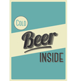 Cold beer inside vector image vector image