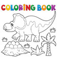coloring book dinosaur topic 3 vector image vector image