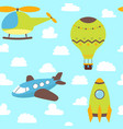 cute children seamless pattern with plane vector image vector image