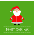 Cute Santa Claus Green background Merry Christmas vector image vector image