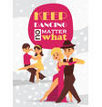 dancing man and woman ballroom sports dances vector image vector image