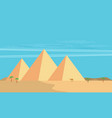 desert view egypt pyramids flat vector image vector image