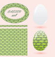 easter set in green tones with eggs seamless vector image vector image