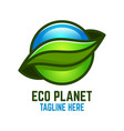 eco planet logo vector image