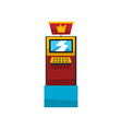 electronic slot game machine with crown vector image