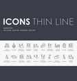 emigration thin line icons vector image