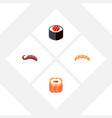flat icon maki set of seafood japanese food vector image vector image