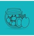 fruit jam design vector image vector image