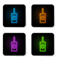 glowing neon remote control icon isolated on vector image vector image