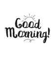 Good morning Greeting card with modern vector image vector image