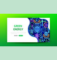 green energy neon landing page vector image vector image
