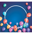 Happy birthday card with flying balloons vector image vector image