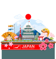 japan infographic travel place and landmark vector image vector image