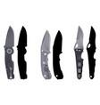 knives set5 vector image vector image