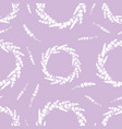 lavender flowers wreaths repeat pattern vector image vector image