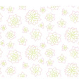 Line art succulent plant seamless pattern vector image