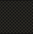 luxury black background dark geometric squares vector image