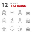 man icons vector image vector image