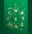 merry christmas abstract minimalist vector image vector image