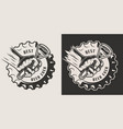 monochrome brewery vintage print vector image vector image
