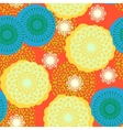 Multicolor floral pattern in bright colors vector image vector image