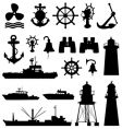 nautical elements vector image vector image