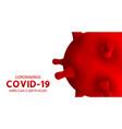 novel coronavirus covid-19 infection 2019-ncov vector image