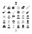 pirate profession service and other web icon in vector image vector image