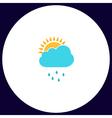 raindrops computer symbol vector image vector image