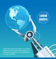 robot industry emblem vector image