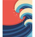 sea waves poster sea landscape vector image vector image
