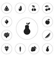set of 12 editable dessert icons includes symbols vector image vector image