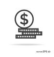set of money outline icon black color vector image vector image